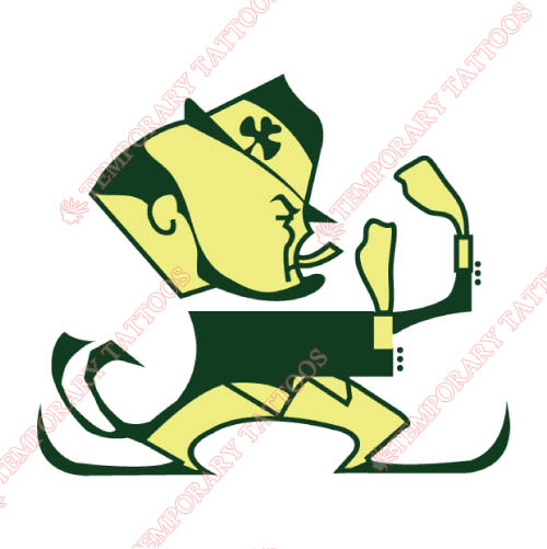 Notre Dame Fighting Irish Customize Temporary Tattoos Stickers NO.5729