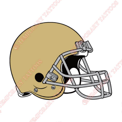 Notre Dame Fighting Irish Customize Temporary Tattoos Stickers NO.5730