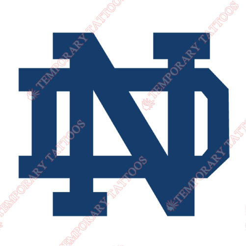 Notre Dame Fighting Irish Customize Temporary Tattoos Stickers NO.5731