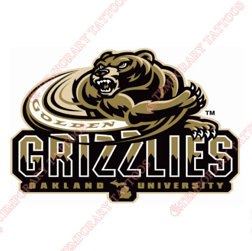 Oakland Golden Grizzlies Customize Temporary Tattoos Stickers NO.5733