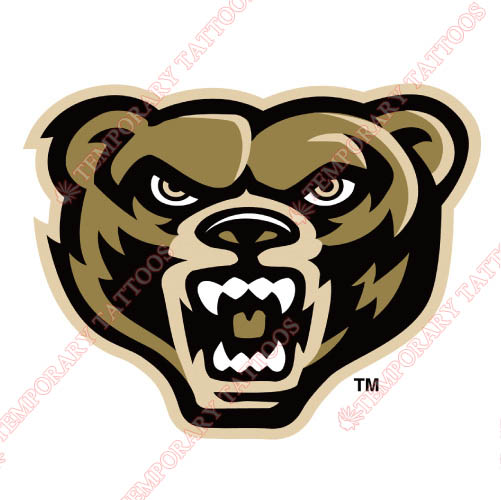 Oakland Golden Grizzlies Customize Temporary Tattoos Stickers NO.5736