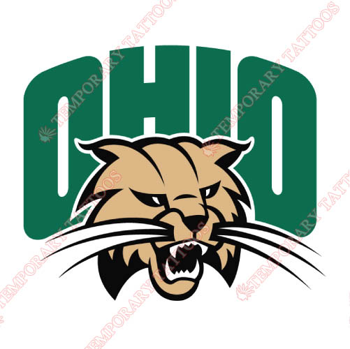 Ohio Bobcats Customize Temporary Tattoos Stickers NO.5740