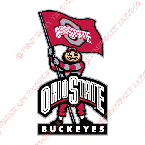 Ohio State Buckeyes Customize Temporary Tattoos Stickers NO.5744
