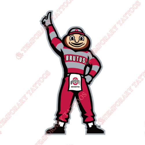 Ohio State Buckeyes Customize Temporary Tattoos Stickers NO.5756