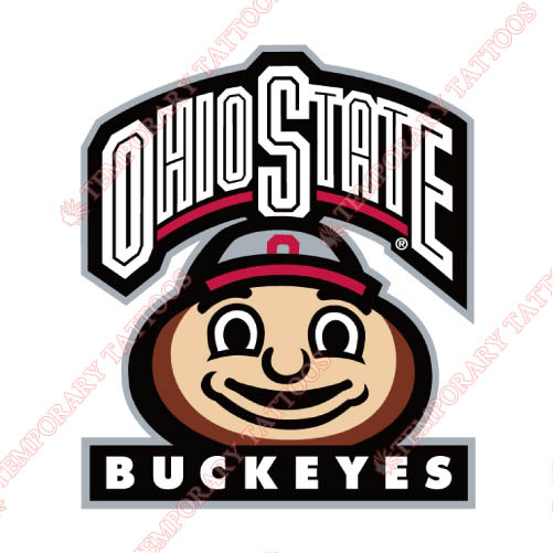 Ohio State Buckeyes Customize Temporary Tattoos Stickers NO.5759