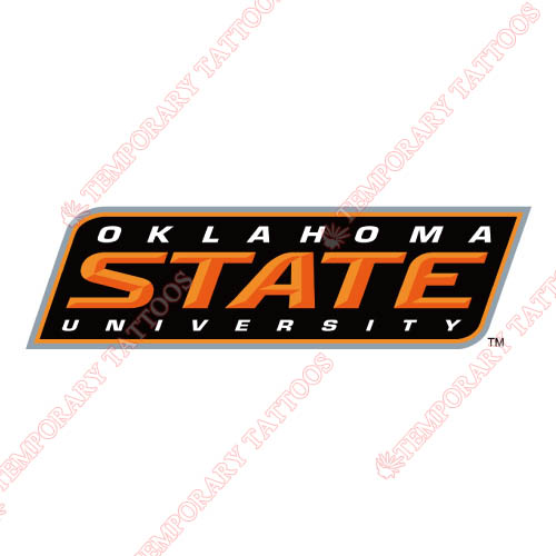 Oklahoma State Cowboys Customize Temporary Tattoos Stickers NO.5768