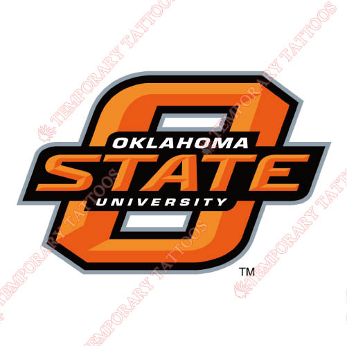 Oklahoma State Cowboys Customize Temporary Tattoos Stickers NO.5769