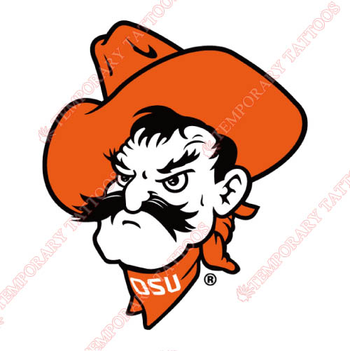 Oklahoma State Cowboys Customize Temporary Tattoos Stickers NO.5773