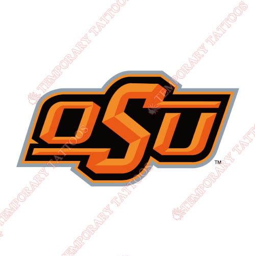 Oklahoma State Cowboys Customize Temporary Tattoos Stickers NO.5778