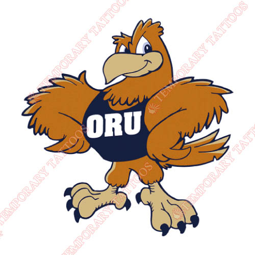 Oral Roberts Golden Eagles Customize Temporary Tattoos Stickers NO.5789