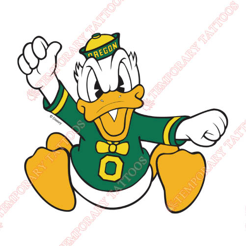 Oregon Ducks Customize Temporary Tattoos Stickers NO.5791