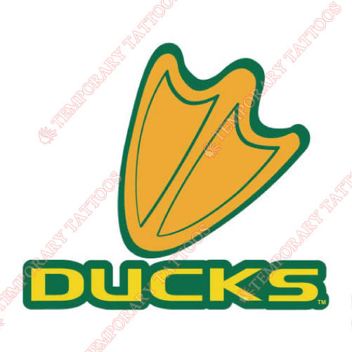Oregon Ducks Customize Temporary Tattoos Stickers NO.5793