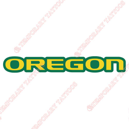 Oregon Ducks Customize Temporary Tattoos Stickers NO.5794