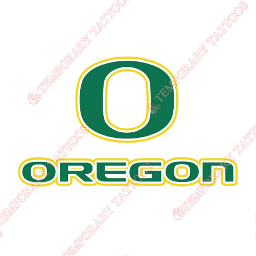 Oregon Ducks Customize Temporary Tattoos Stickers NO.5797