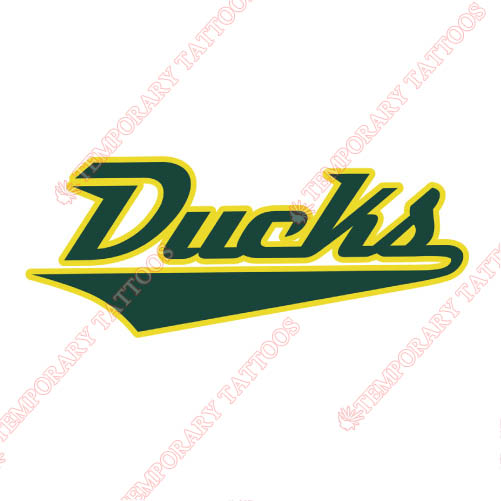 Oregon Ducks Customize Temporary Tattoos Stickers NO.5799