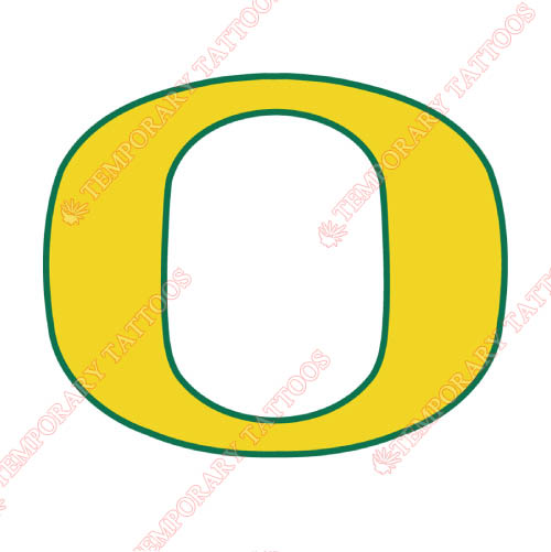 Oregon Ducks Customize Temporary Tattoos Stickers NO.5800