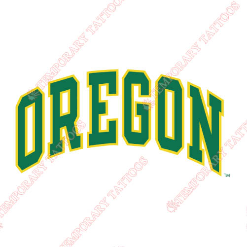 Oregon Ducks Customize Temporary Tattoos Stickers NO.5804
