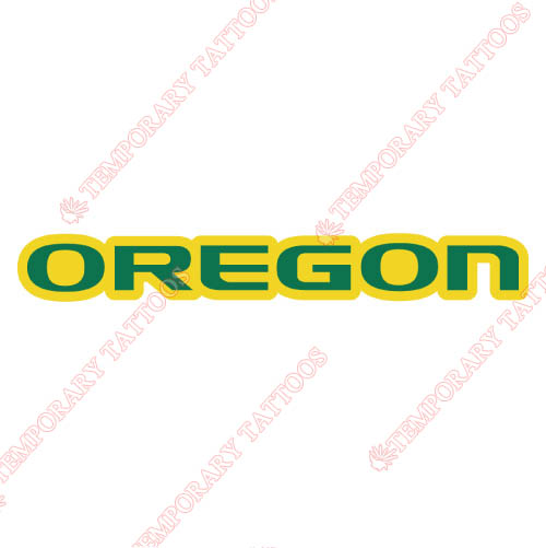 Oregon Ducks Customize Temporary Tattoos Stickers NO.5805