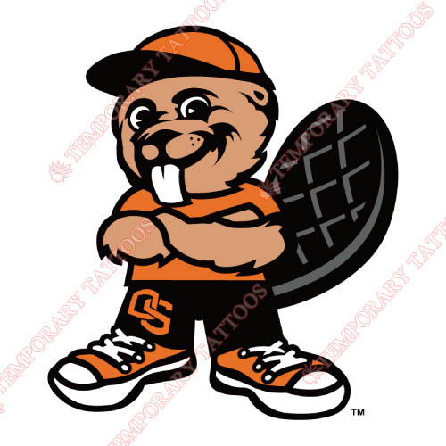 Oregon State Beavers Customize Temporary Tattoos Stickers NO.5806