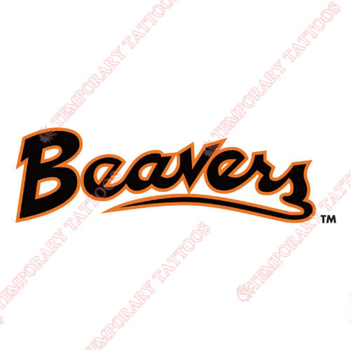 Oregon State Beavers Customize Temporary Tattoos Stickers NO.5807