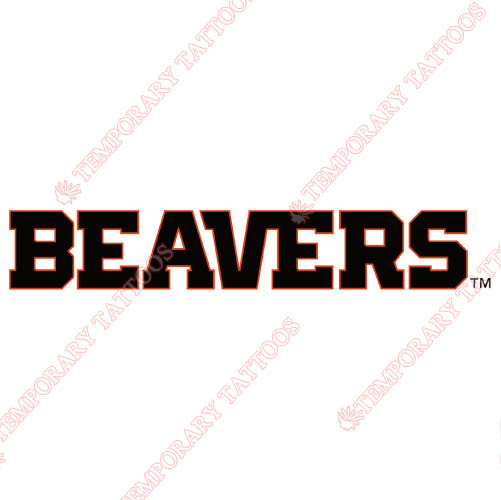 Oregon State Beavers Customize Temporary Tattoos Stickers NO.5808