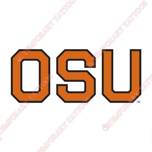 Oregon State Beavers Customize Temporary Tattoos Stickers NO.5809