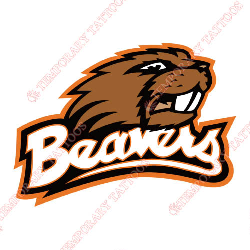 Oregon State Beavers Customize Temporary Tattoos Stickers NO.5812