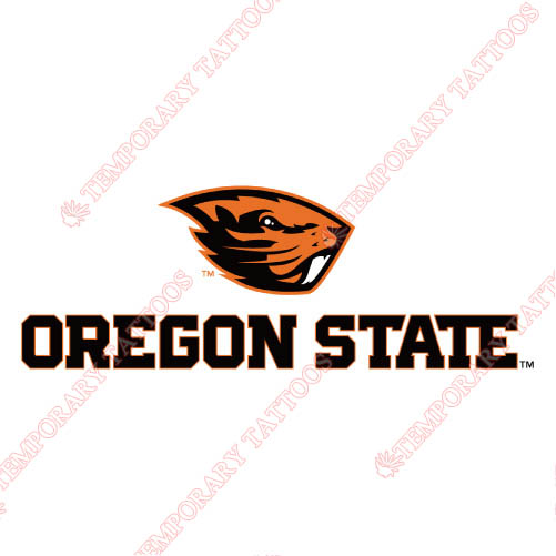 Oregon State Beavers Customize Temporary Tattoos Stickers NO.5813