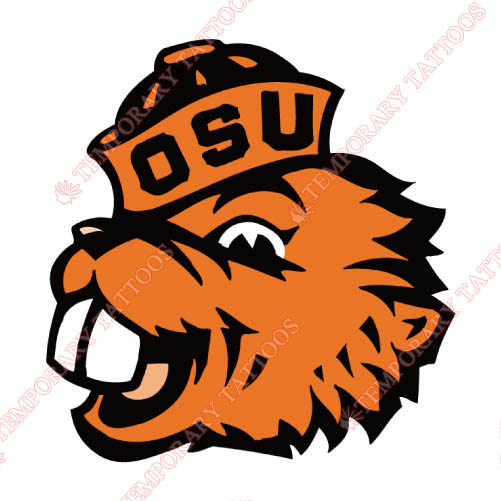 Oregon State Beavers Customize Temporary Tattoos Stickers NO.5814