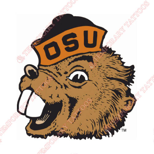 Oregon State Beavers Customize Temporary Tattoos Stickers NO.5815
