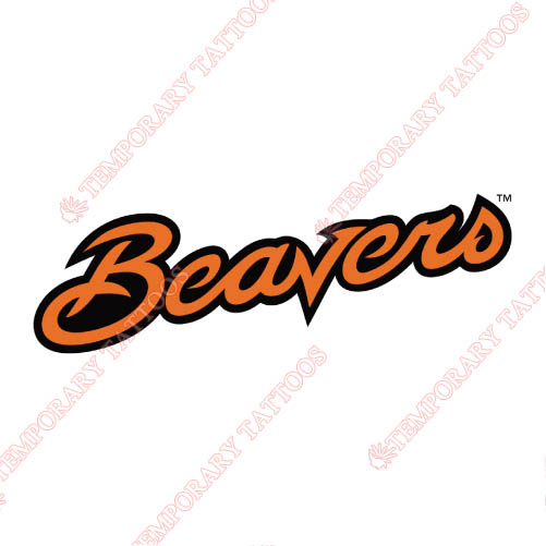 Oregon State Beavers Customize Temporary Tattoos Stickers NO.5818