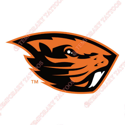 Oregon State Beavers Customize Temporary Tattoos Stickers NO.5819
