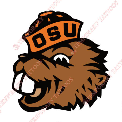 Oregon State Beavers Customize Temporary Tattoos Stickers NO.5820