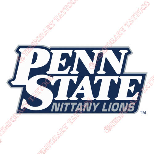 Penn State Nittany Lions Customize Temporary Tattoos Stickers NO.5861