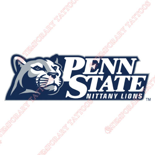 Penn State Nittany Lions Customize Temporary Tattoos Stickers NO.5863