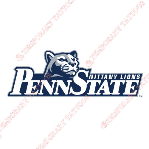 Penn State Nittany Lions Customize Temporary Tattoos Stickers NO.5864