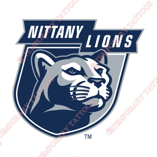 Penn State Nittany Lions Customize Temporary Tattoos Stickers NO.5869