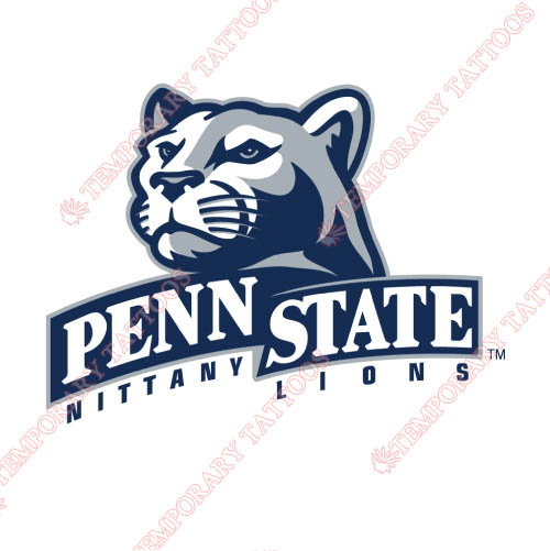 Penn State Nittany Lions Customize Temporary Tattoos Stickers NO.5870