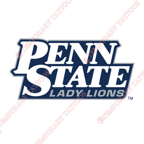 Penn State Nittany Lions Customize Temporary Tattoos Stickers NO.5871