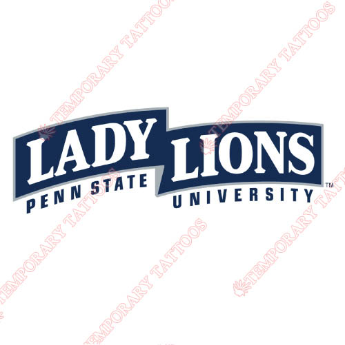 Penn State Nittany Lions Customize Temporary Tattoos Stickers NO.5873