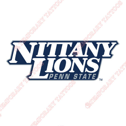 Penn State Nittany Lions Customize Temporary Tattoos Stickers NO.5874