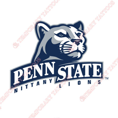 Penn State Nittany Lions Customize Temporary Tattoos Stickers NO.5876