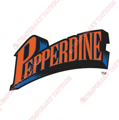 Pepperdine Waves Customize Temporary Tattoos Stickers NO.5884