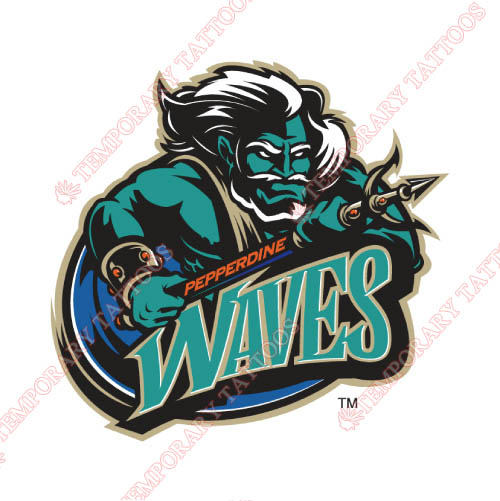 Pepperdine Waves Customize Temporary Tattoos Stickers NO.5888