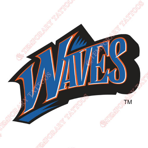 Pepperdine Waves Customize Temporary Tattoos Stickers NO.5890
