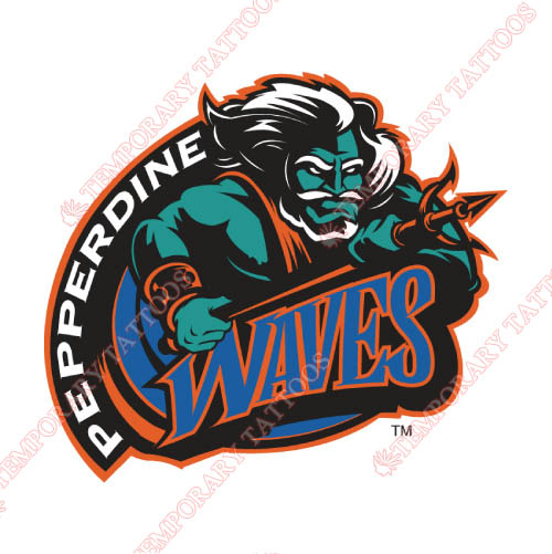 Pepperdine Waves Customize Temporary Tattoos Stickers NO.5891
