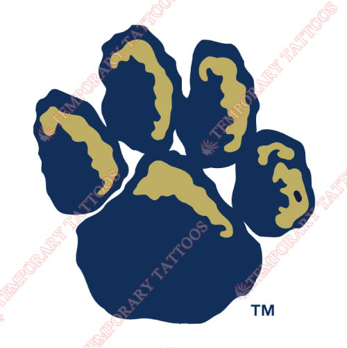 Pittsburgh Panthers Customize Temporary Tattoos Stickers NO.5897