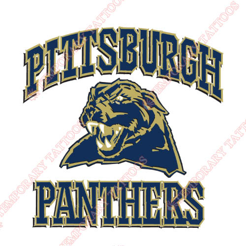 Pittsburgh Panthers Customize Temporary Tattoos Stickers NO.5900