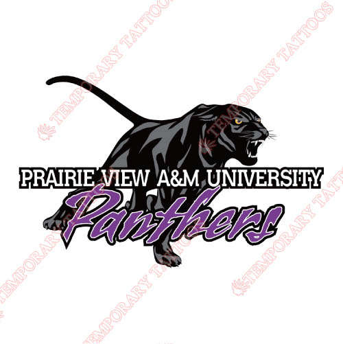 Prairie View A M Panthers Customize Temporary Tattoos Stickers NO.5918