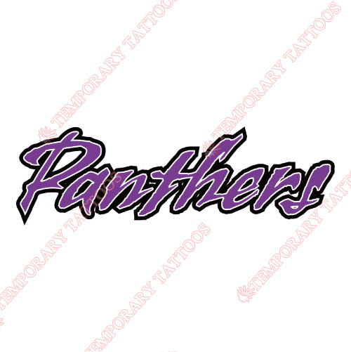 Prairie View A M Panthers Customize Temporary Tattoos Stickers NO.5921